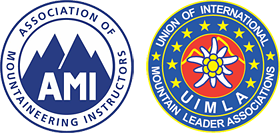 Association of Mountaineering Instructors logo - Union of International Mountain Leader Associations logo