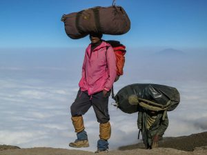 Mountain Porters in Kilimanjaro